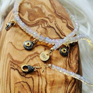 Jewelry - Opal and Diamond Charm Choker
